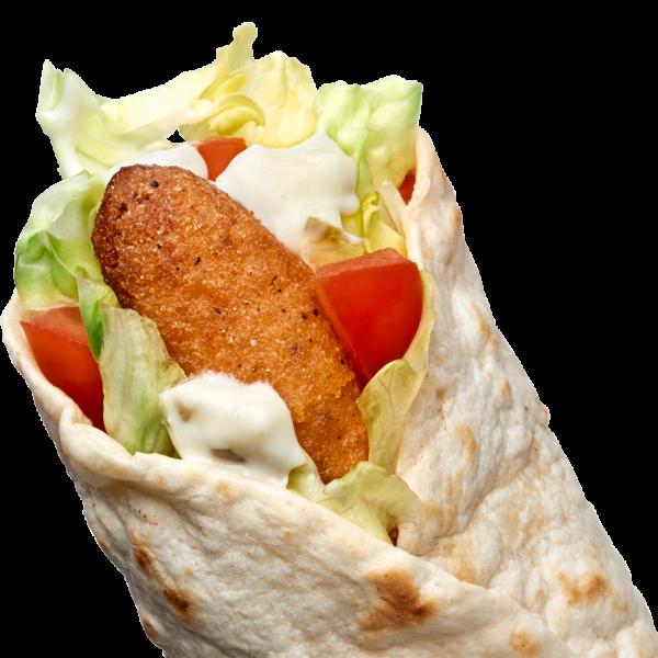 Icli köfte/kibbeh wrap